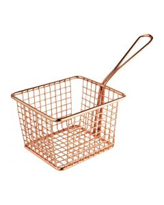 This is an image of a Olympia Square Presentation Basket Copper Large - 80(H)x120(W)x100mmD