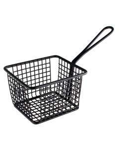 This is an image of a Olympia Square Presentation Basket Black Large - 80(H)x120(W)x100mmD