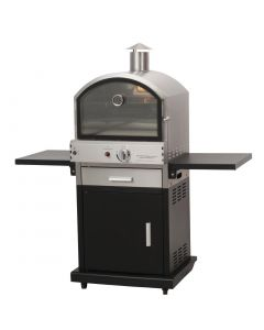 This is an image of a Lifestyle Verona Gas Pizza BBQ Oven Black and StSt (Direct)