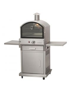 This is an image of a Lifestyle Milano Gas Pizza BBQ Oven StSt (Direct)