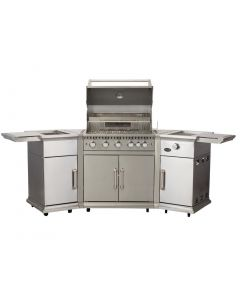 This is an image of a Lifestyle Bahama 5 Burner Island Gas BBQ with Rotisserie and Cover (Direct)
