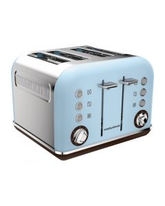 This is an image of a Morphy Richards 4 Slot Toaster Azure