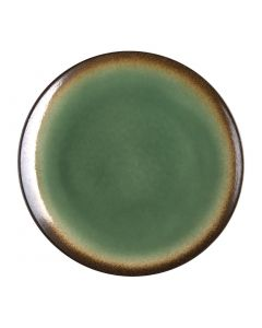 """This is an image of a Olympia Nomi Green Tapas Round Coupe Plate - 10"""" 255mm (Box 4)"""