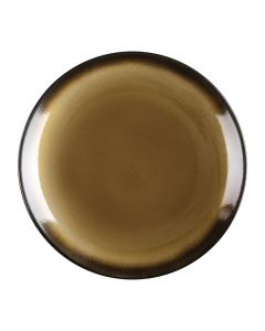 "This is an image of a Olympia Nomi Yellow Tapas Round Coupe Plate - 10"" 255mm (Box 4)"