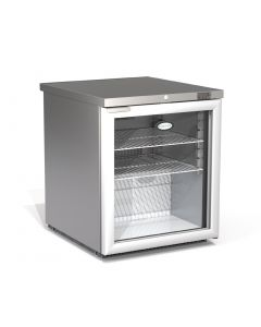 This is an image of a Foster 1 Glass Door 200Ltr Under Counter Fridge HR200G 13113