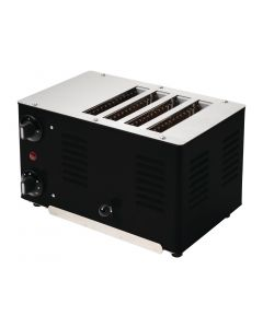 This is an image of a Rowlett Regent 4 Slot Toaster Black