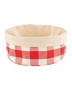 This is an image of a APS Bread Basket Round Large Red