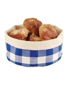 This is an image of a APS Bread Basket Round Large Blue