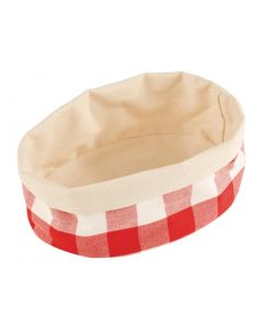 This is an image of a APS Bread Basket Oval Small Red