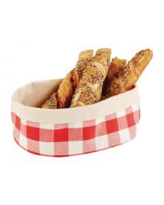 This is an image of a APS Bread Basket Oval Large Red