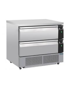 This is an image of a Polar Double Drawer Counter FridgeFreezer 2xGN