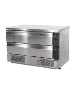 This is an image of a Polar Double Drawer Counter FridgeFreezer 6xGN