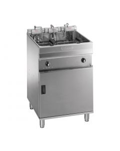 This is an image of a Valentine Evo 600P Freestanding Twin Basket Fryer with Filtration