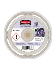 This is an image of a Rubbermaid TCell 20 Refill Lavender Mint