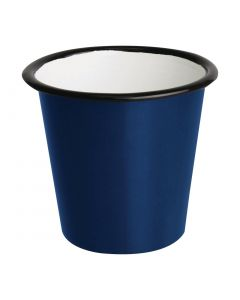 This is an image of a Olympia Enamel BlueBlack Sauce Cup - 115ml 4oz (Box 6)