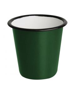 This is an image of a Olympia Enamel GreenBlack Sauce Cup - 115ml 4oz (Box 6)