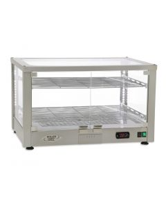 This is an image of a Roller Grill Heated 2 Shelf Display Cabinet WD780 SI