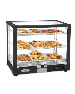 This is an image of a Roller Grill Heated 3 Shelf Display Cabinet WD780 DN