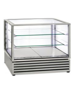 This is an image of a Roller Grill Countertop Display Fridge 21GN Stainless Steel CD800 I