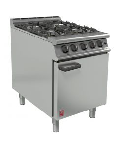 This is an image of a Falcon 4 Burner Dominator Plus Oven Range G3161 Natural Gas with Feet