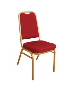 This is an image of a Bolero Squared Back Banquet Chair Red (Pack of 4)