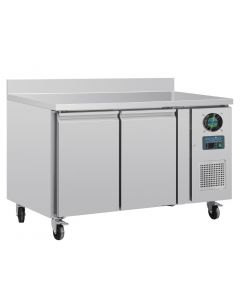 This is an image of a Polar Counter 2 Door Freezer with Upstand 282 Ltr