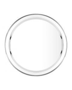 """This is an image of a Circular Serving Tray StSt - 16"""""""