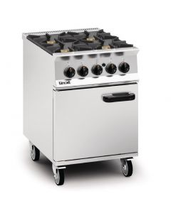 This is an image of a Lincat Opus 800 Natural Gas 4 Burner Range OG8001N