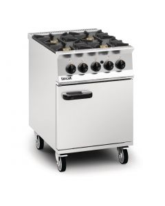 This is an image of a Lincat Opus 800 Natural Gas 4 Burner Range with Right Hand Door OG8001NRHD
