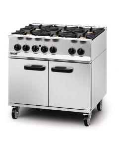 This is an image of a Lincat Opus 800 Natural Gas 6 Burner Range OG8002N