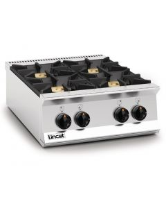 This is an image of a Lincat Opus 800 Natural Gas 4 Burner Boiling Top OG8003N