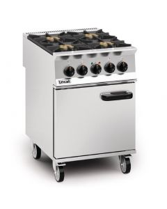 This is an image of a Lincat Opus 800 Propane Gas 4 Burner Dual Fuel Oven Range OD8006N