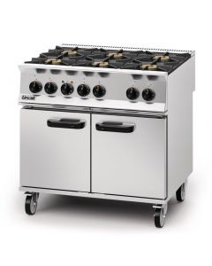 This is an image of a Lincat Opus 800 Natural Gas 6 Burner Dual Fuel Oven Range OD8007N