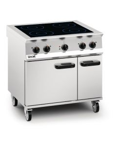 This is an image of a Lincat Opus 800 Induction Top Oven Range OE8017
