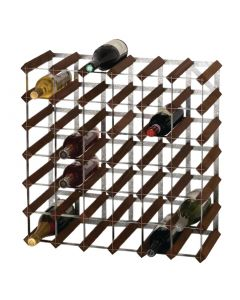 This is an image of a Wine Rack Dark Wood 42 Bottle