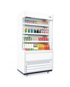 This is an image of a Williams Gem 960mm Slimline Multideck White with Nightblind R100-WCN