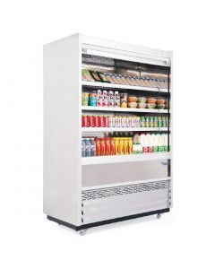 This is an image of a Williams Gem 1250mm Slimline Multideck Stainless Steel with Security Shutter R125-SCS