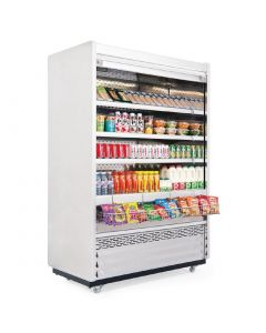 This is an image of a Williams Gem 1250mm Slimline Multideck White with Security Shutter R125-WCS