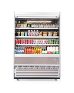 This is an image of a Williams Gem 1510mm Slimline Multideck White with Security Shutter R150-WCS