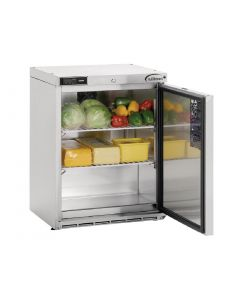 This is an image of a Williams Single Door Undercounter Fridge Stainless Steel 133Ltr HA135-SA