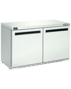 This is an image of a Williams Double Door Under Counter Fridge Stainless Steel 280Ltr HA280-SA