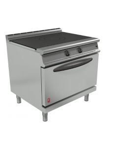 This is an image of a Falcon Dominator Plus Solid Top Natural Gas Oven Range G3107D with Feet