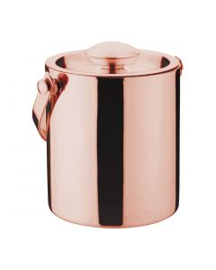 This is an image of a Olympia Copper Barware Ice Bucket Double Wall with Lid - 1Ltr