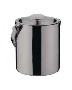 This is an image of a Olympia Gunmetal Barware Ice Bucket Double Wall with Lid - 1Ltr