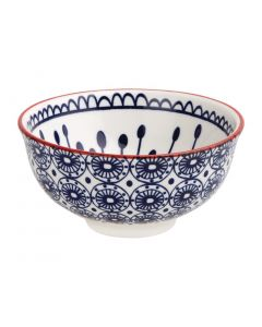 """This is an image of a Olympia Fresca Blue Small Bowl - 120x58mm 4 34x2 14"""" 300ml 105oz (Box 6)"""