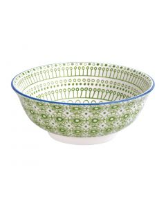 """This is an image of a Olympia Fresca Green Large Bowl 205x82(H)mm 8x325"""" 1400ml 49oz (Box 4)"""