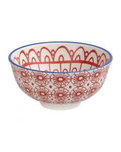 """This is an image of a Olympia Fresca Red Small Bowl - 120x58mm 4 34x2 14"""" 300ml 105oz (Box 6)"""