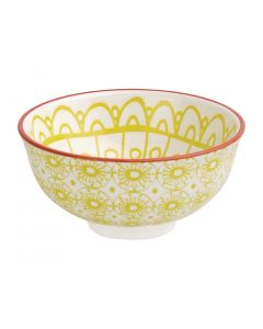 "This is an image of a Olympia Fresca Yellow Small Bowl - 120x58mm 4 34x2 14"" 300ml 105oz (Box 6)"