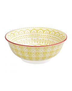 "This is an image of a Olympia Fresca Yellow Large Bowl - 205x82mm 8x3 14"" 1400ml 49oz (Box 4)"