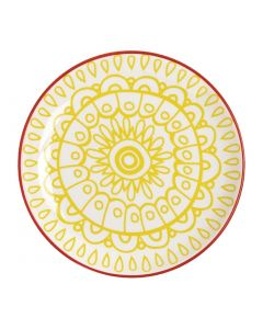 "This is an image of a Olympia Fresca Yellow Plate - 178mm 7"" (Box 6)"